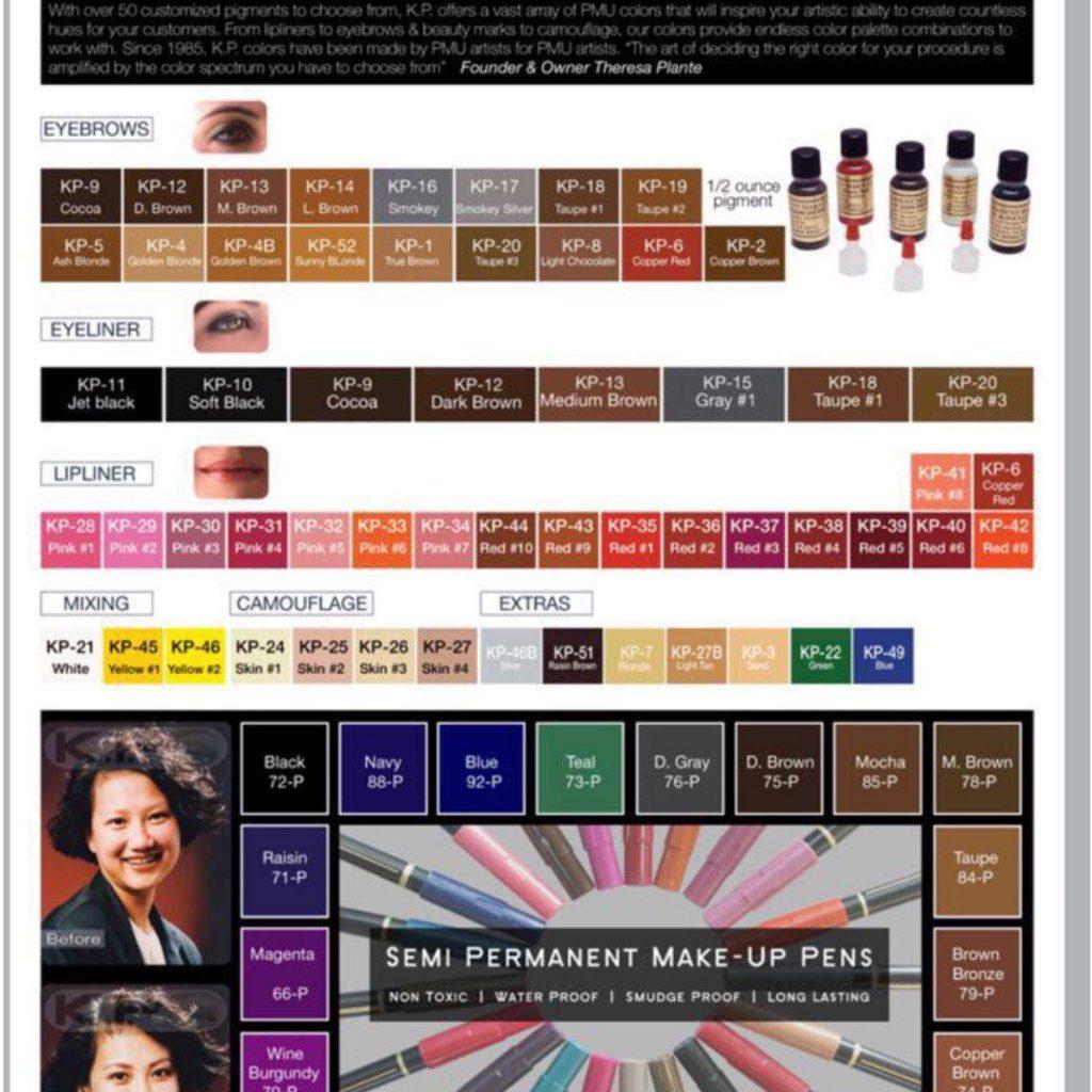 فروش رنگ های میکروپیگمنتیشن kp  آمریکایی